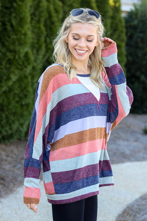 Multi - Striped Knit Top from Dress Up