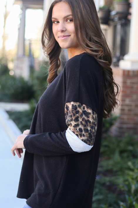 Black - Brushed Knit Pullover