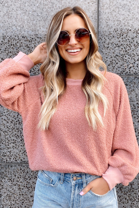 Sherpa Teddy Pullover Sweater from Dress Up