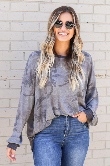 Camo - Oversized Lightweight Knit Pullover from Dress Up