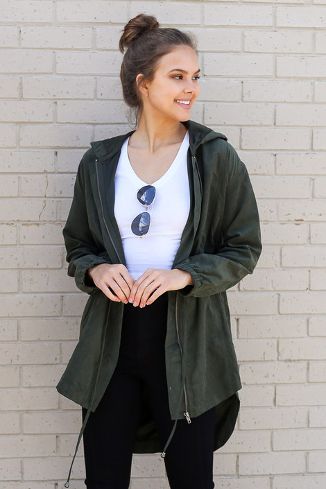 Olive - Cargo Utility Jacket from Dress Up
