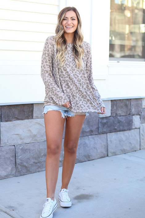 Leopard Oversized Tie-Back Top from Dress Up Boutique