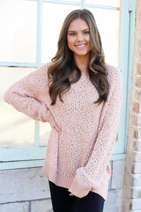 Popcorn Knit Oversized Top from Dress Up