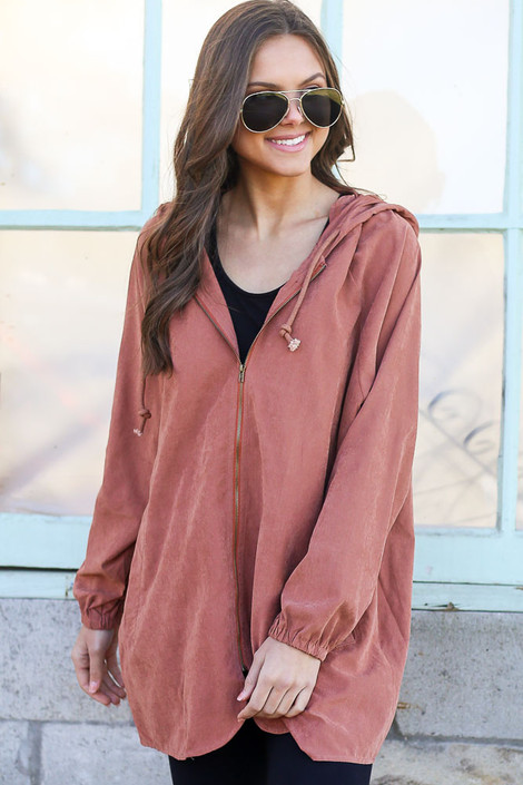 Mauve - Hooded Utility Jacket from Dress Up