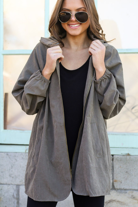 Olive - Hooded Utility Jacket from Dress Up
