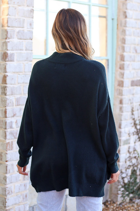 Brushed Knit Oversized Top Back View