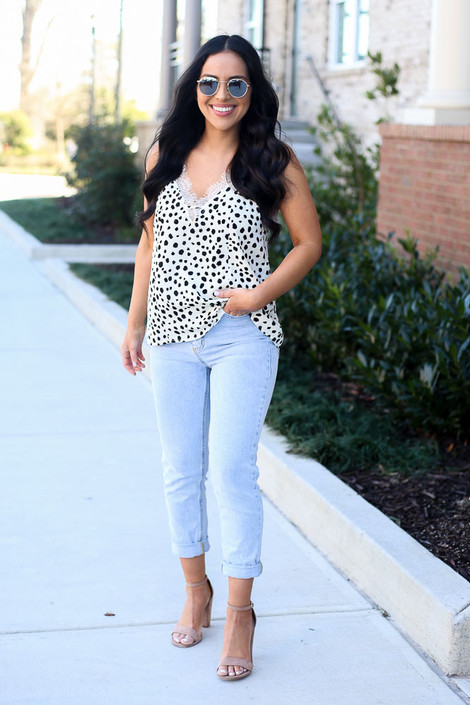 Ivory - Spotted Lace Tank from Dress Up