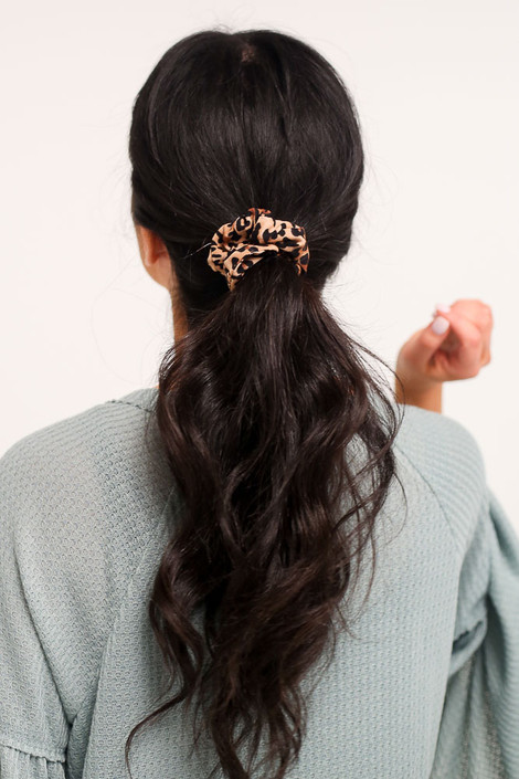 Leopard - Leopard Print Scrunchie from Dress Up