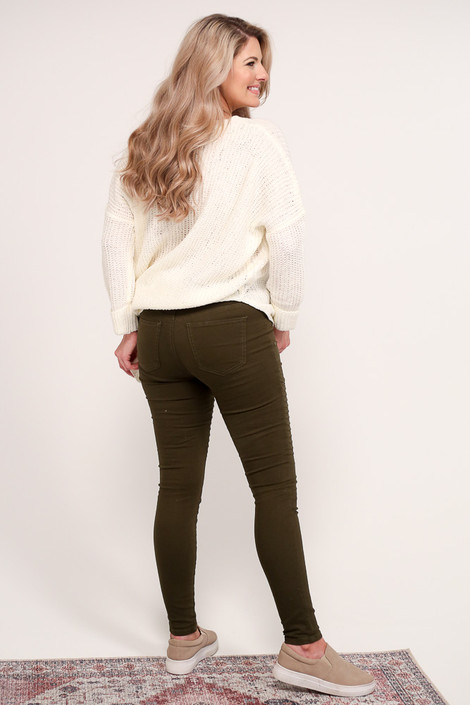 Moto Jeggings Back View