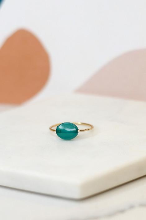 Flat lay of one of the rings in the Rhinestone Ring Set