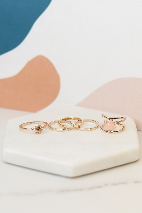 Gold - Assorted Ring Set