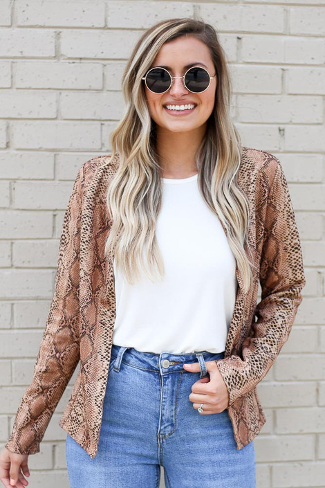 Gold - Snakeskin Microsuede Jacket from Dress Up