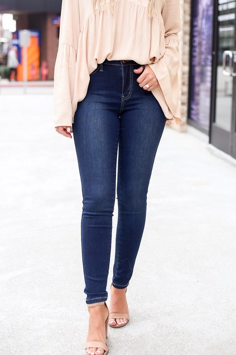 Dark Wash - High-Rise Skinny Jeans