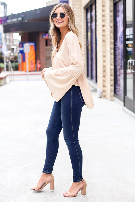 High-Rise Skinny Jeans Side View