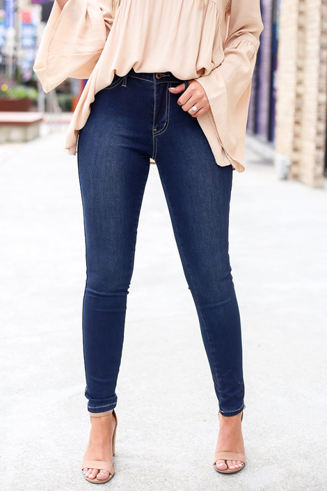 Close Up of the High-Rise Skinny Jeans