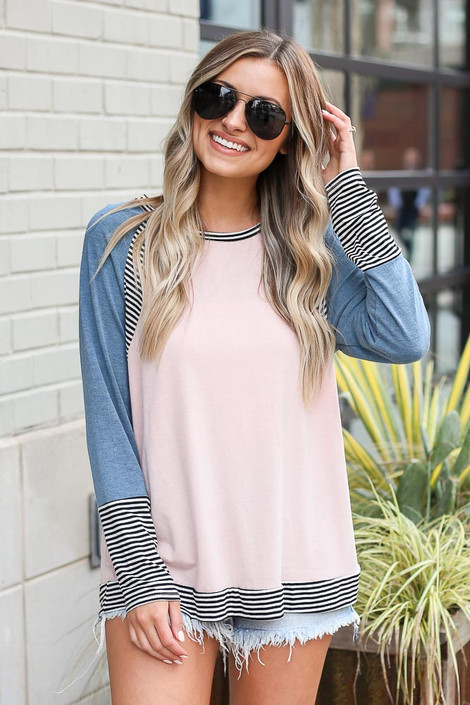 Teal - Color Block Top