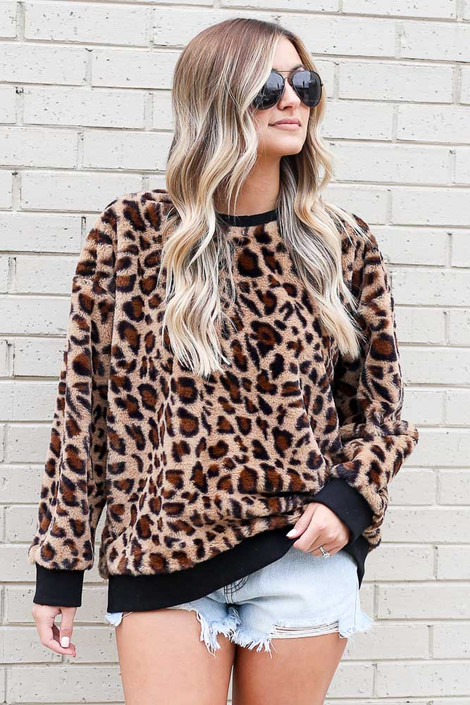 Leopard - Faux Fur Pullover from Dress Up