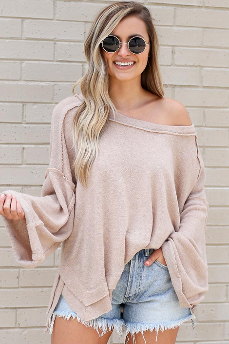 Taupe - Luxe Cloud Sweater from Dress Up