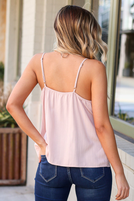 Textured Button Up Tank Back View