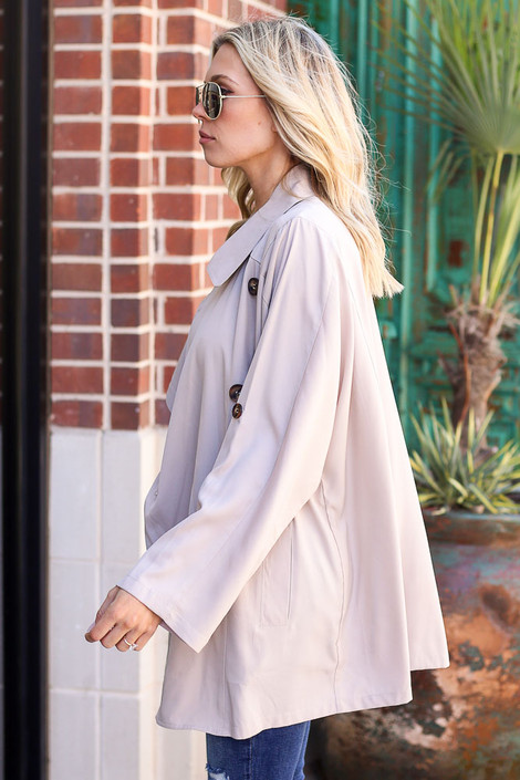 Lightweight Trench Coat Side View
