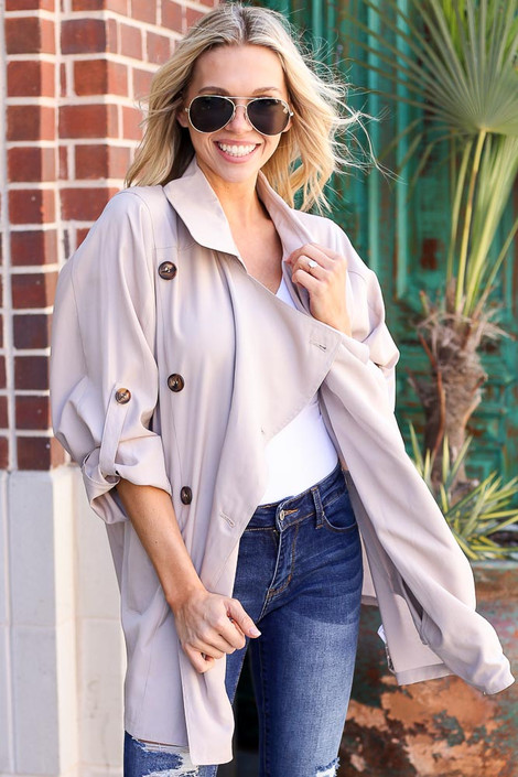 Model wearing the Lightweight Trench Coat