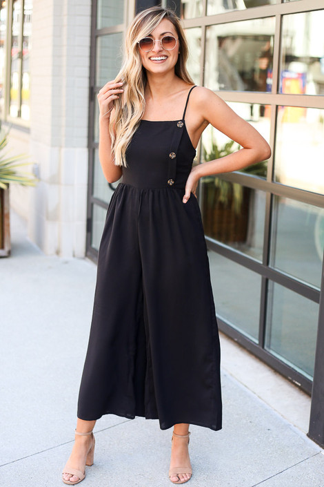 Model wearing the Wide Leg Jumpsuit from Dress Up Front View