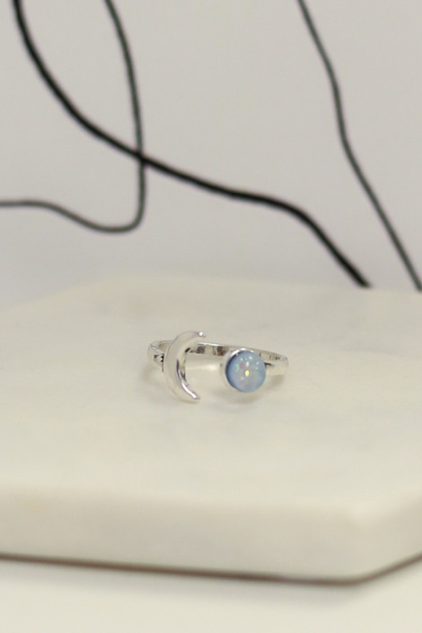 Close Up of one of the rings in the Boho Ring Set