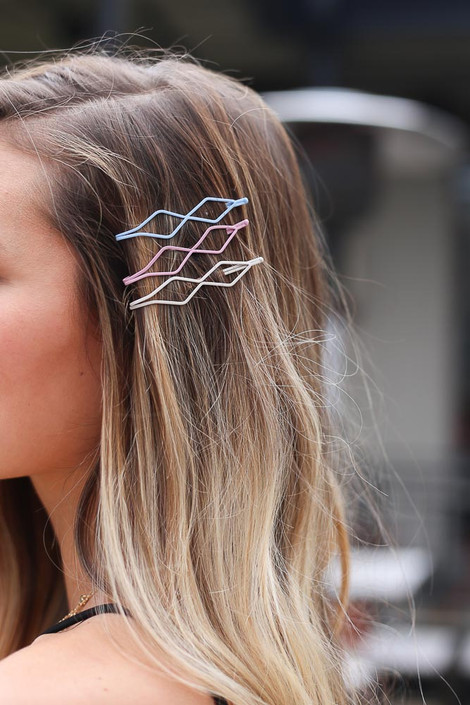 Multi - Geometric Bobby Pin Set