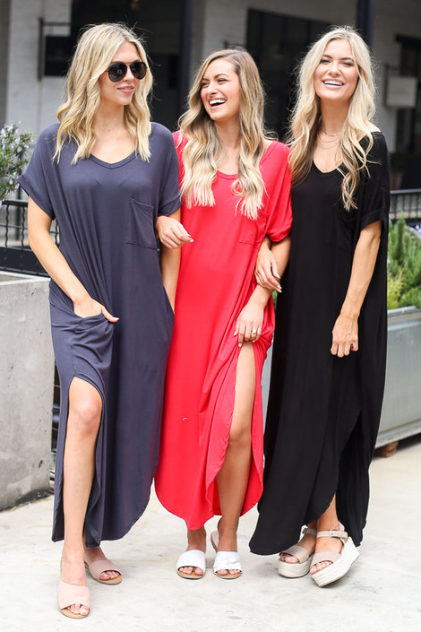 Black - T-Shirt Maxi Dress