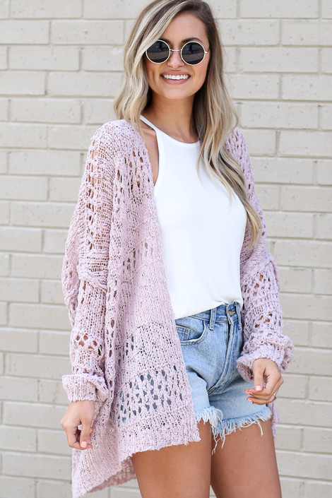 Blush - lightweight knit summer cardigan