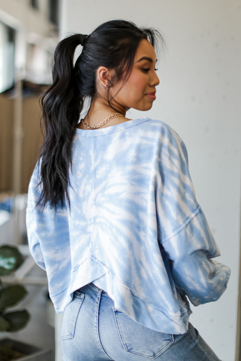 Blue - Oversized Tie-Dye Pullover from Dress Up