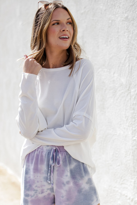 White - Basic Oversized Knit Top from Dress Up