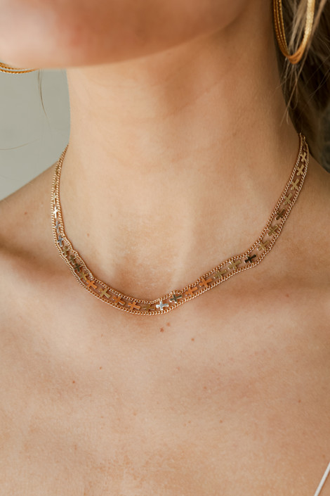 Gold - Cross Necklace