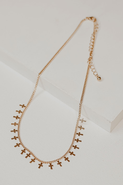 Gold - Cross Necklace from Dress Up