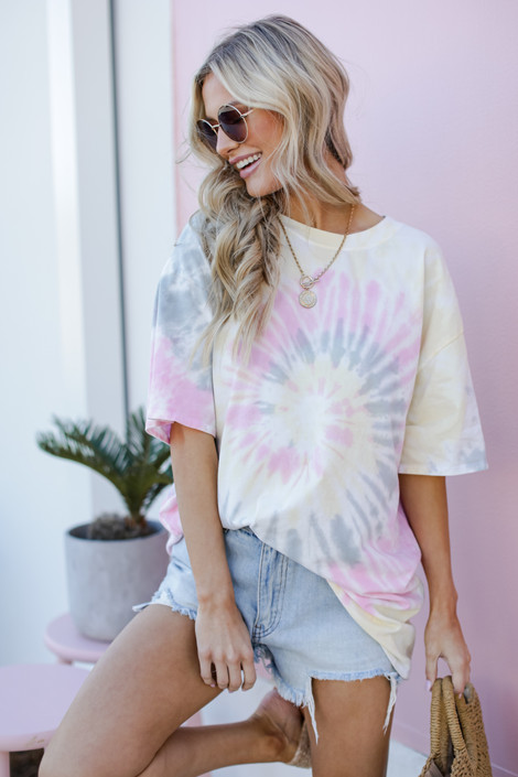 Pink - Tie-Dye Tee from Dress Up