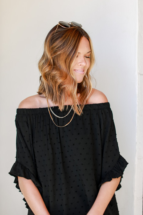 Black - Off-the-Shoulder Top from Dress Up