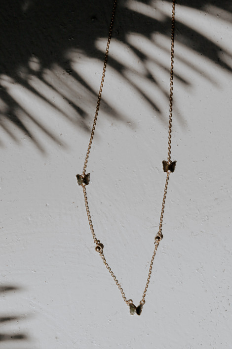 Gold - Butterfly Chain Necklace
