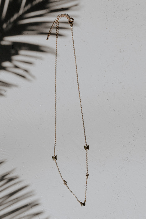 Gold - Butterfly Chain Necklace from Dress Up
