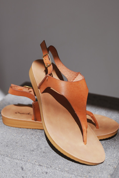 Camel - Ankle Strap Sandals from Dress Up