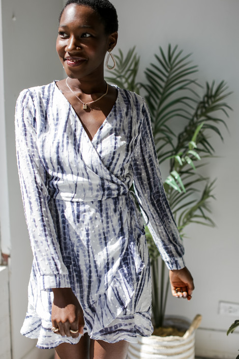 Navy - Wrap Dress from Dress Up