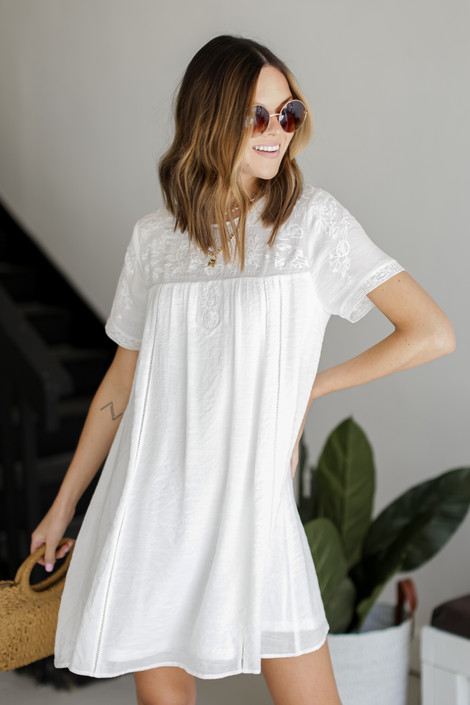 White - Embroidered Dress