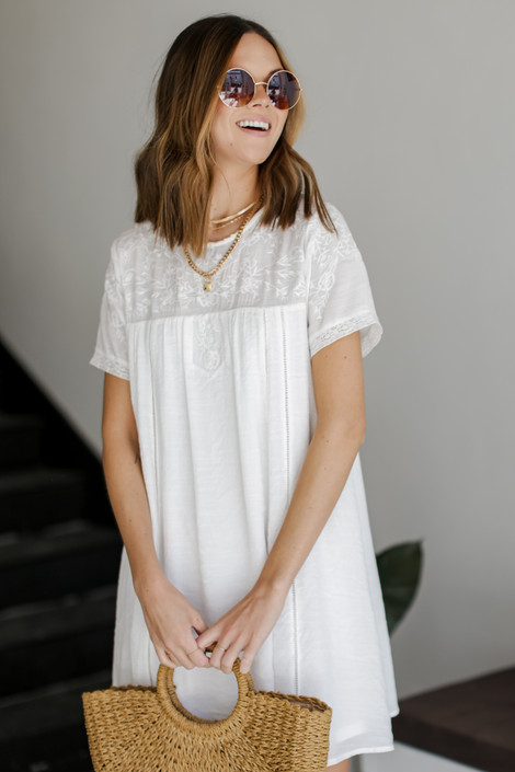 White - Embroidered Dress from Dress Up
