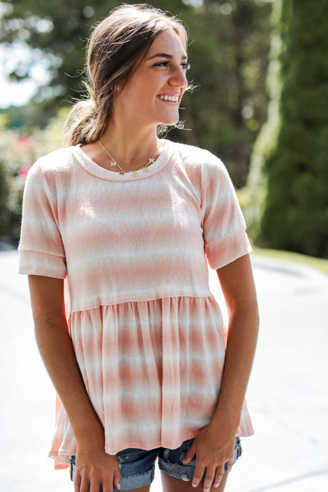 Coral - Sunkissed Washed Top