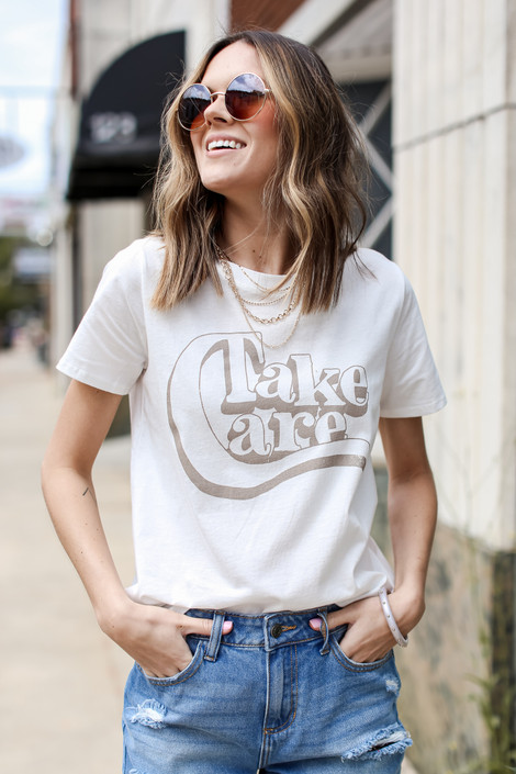 Ivory - Take Care Graphic Tee