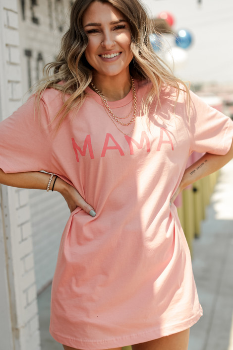 Peach - Mama Graphic Tee from Dress Up