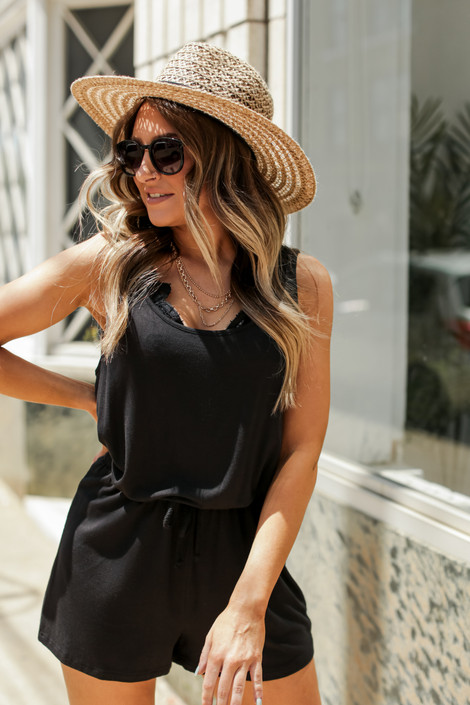 Black - Jersey Romper from Dress Up