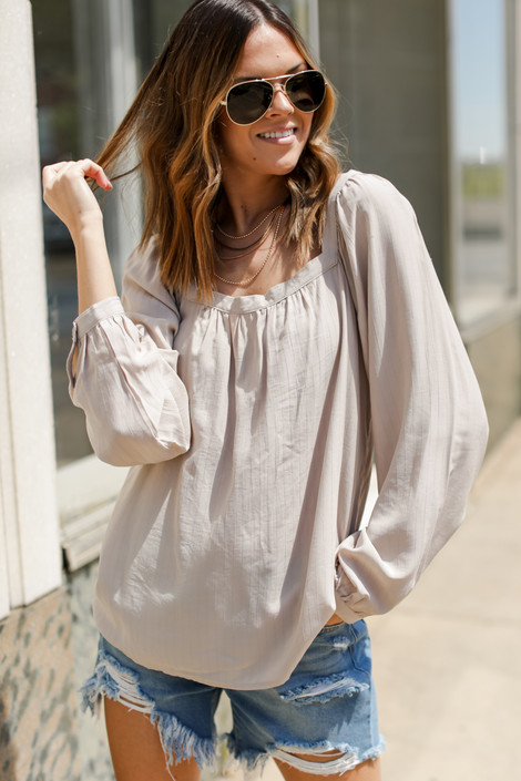 Ivory - Square Neck Blouse from Dress Up