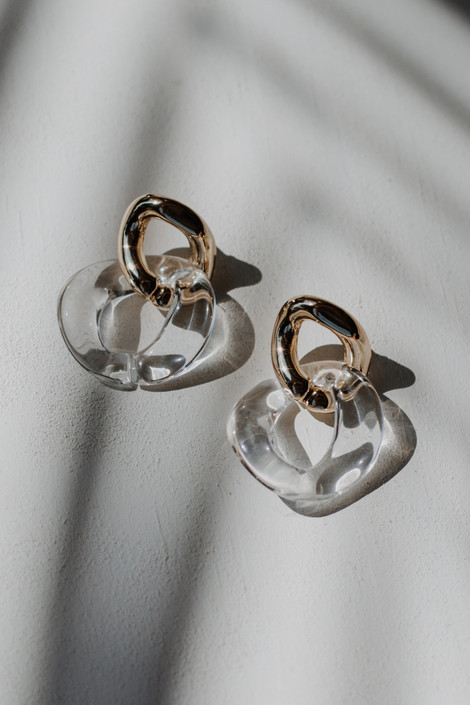 Gold - Chainlink Drop Earrings from Dress Up