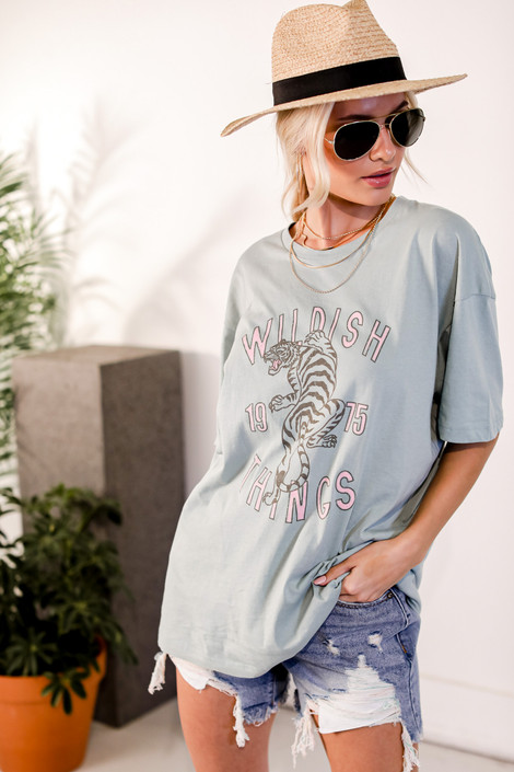 Sage - Wildish Things Graphic Tee from Dress Up