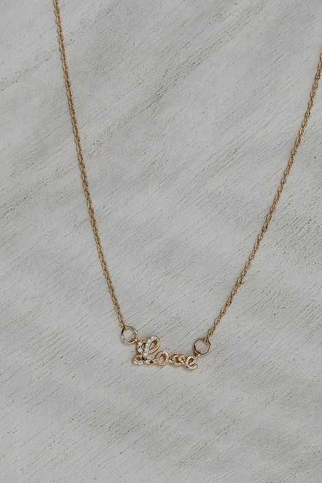 Gold - Love Necklace from Dress Up